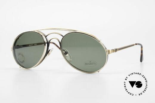 Bugatti 07823 Alte 80er Brille mit Vorhänger Details