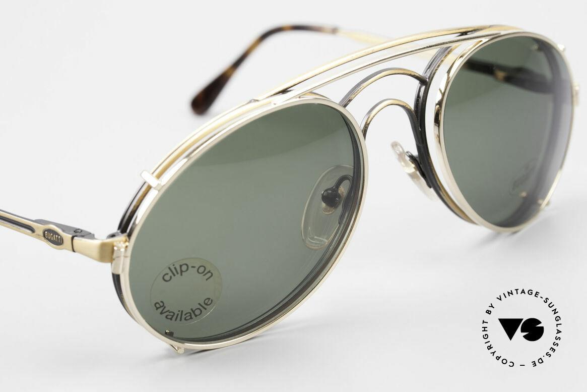 Bugatti 07823 Alte 80er Brille mit Vorhänger, ungetragen (wie alle unsere vintage Bugatti Modelle), Passend für Herren