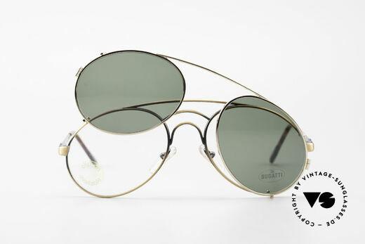Bugatti 07823 Alte 80er Brille mit Vorhänger, Größe: medium, Passend für Herren