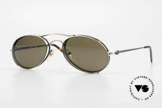 Bugatti 23444 Alte 90er Brille mit Vorhänger Details