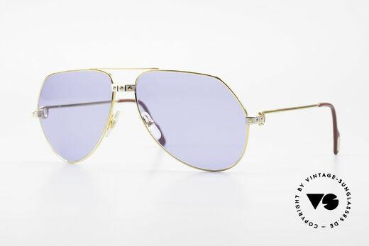 Cartier Vendome Santos - L 1980er Luxus Aviator Brille Details