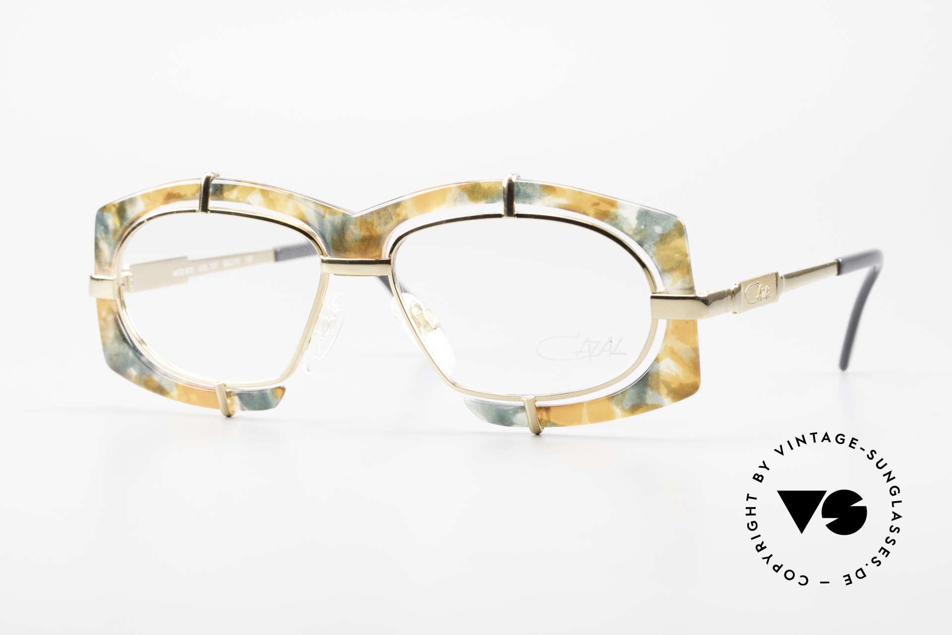 Cazal 872 Außergewöhnliche Brille 90er, verrückte Cazal Designer-Fassung der frühen 1990er, Passend für Herren und Damen