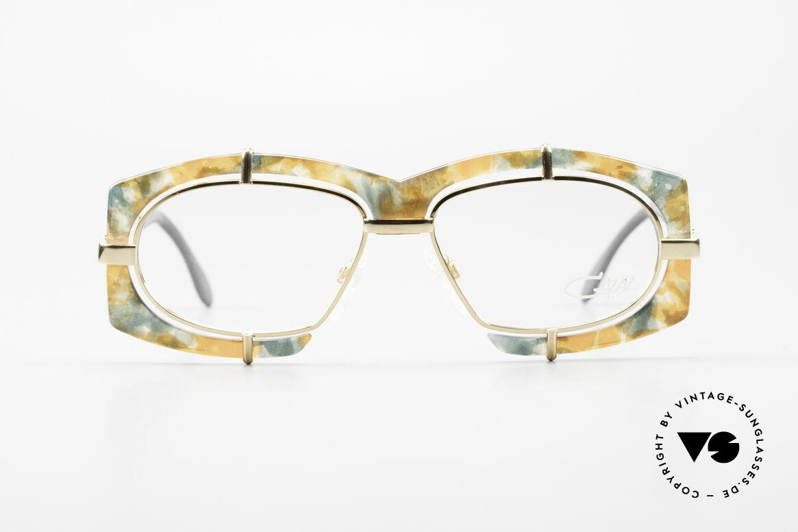 Cazal 872 Außergewöhnliche Brille 90er, extravagante Linsenaufhängung u. Rahmenmusterung, Passend für Herren und Damen