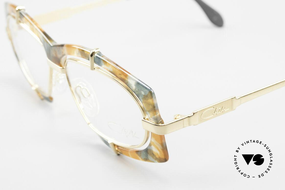Cazal 872 Außergewöhnliche Brille 90er, daher eine auch beliebte OLD SCHOOL HipHop-Brille, Passend für Herren und Damen