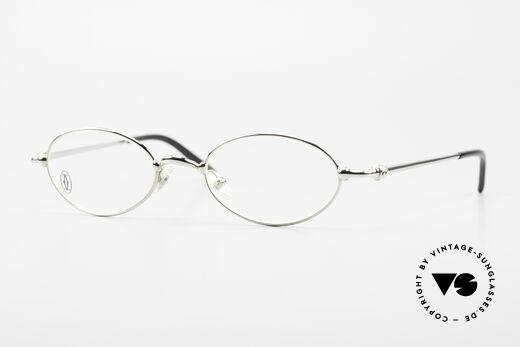 Cartier Mizar Ovale Luxus Brille Platin 90er Details