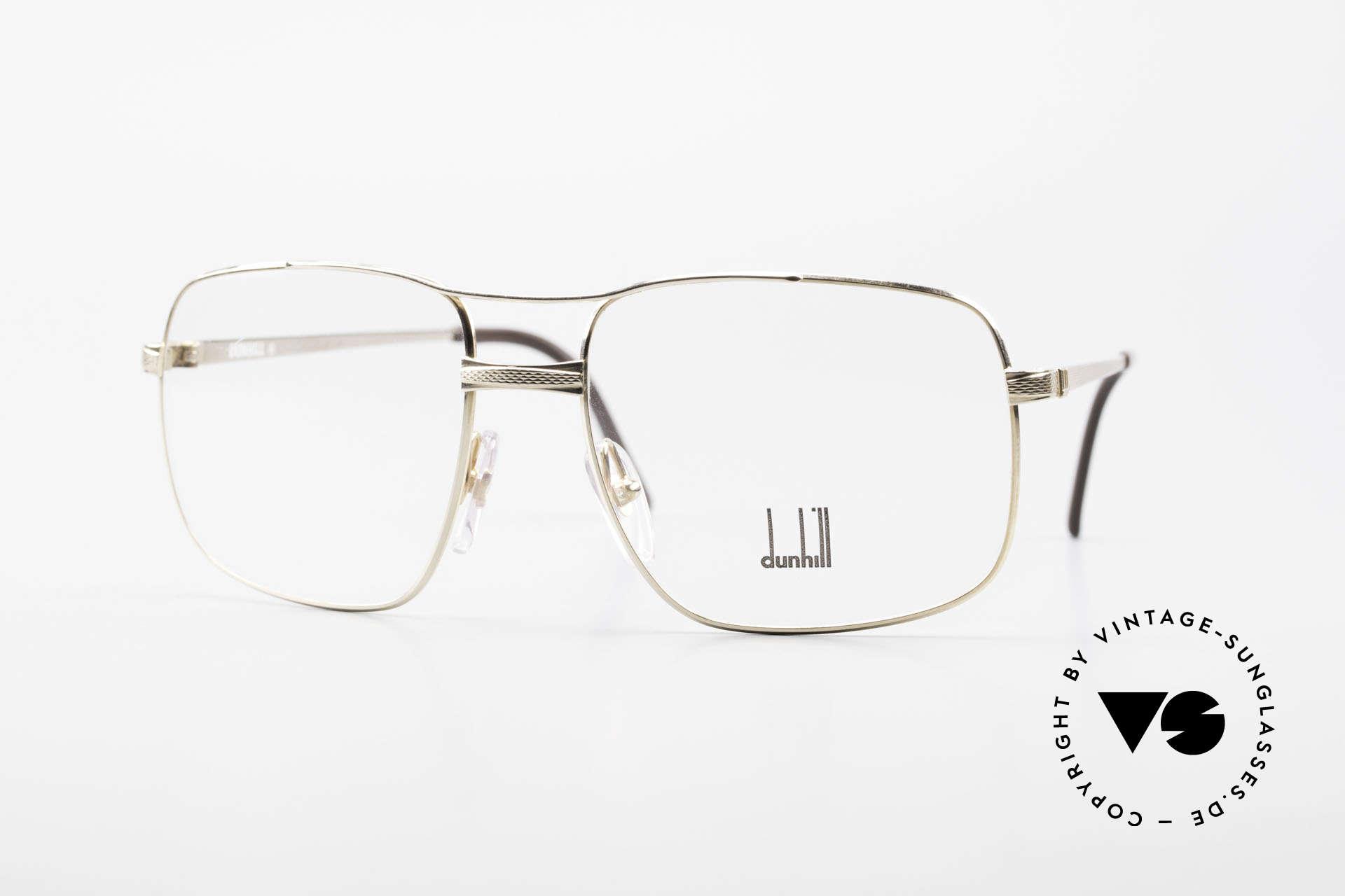Dunhill 6048 Vergoldete 80er Brille Herren, vintage A. Dunhill Luxus-Brillenfassung von 1987, Passend für Herren