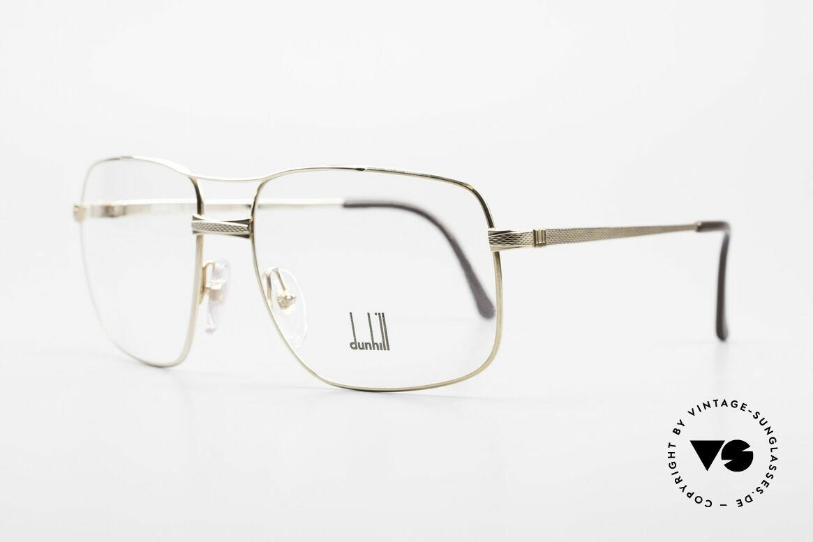 Dunhill 6048 Vergoldete 80er Brille Herren, Federgelenke, die sich der Gesichtsform anpassen, Passend für Herren