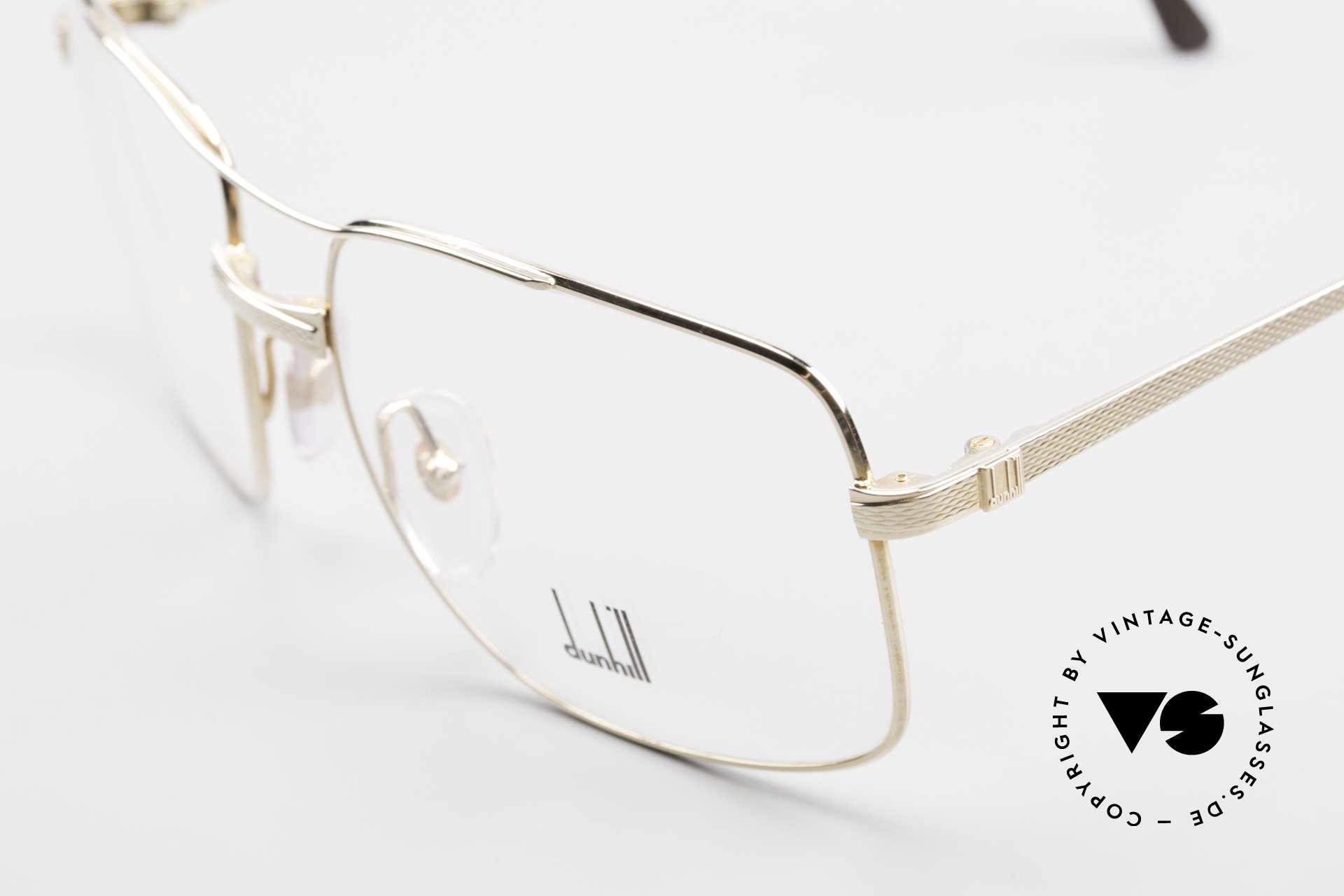 Dunhill 6048 Vergoldete 80er Brille Herren, hartvergoldete Fassung (für die Ewigkeit gemacht), Passend für Herren