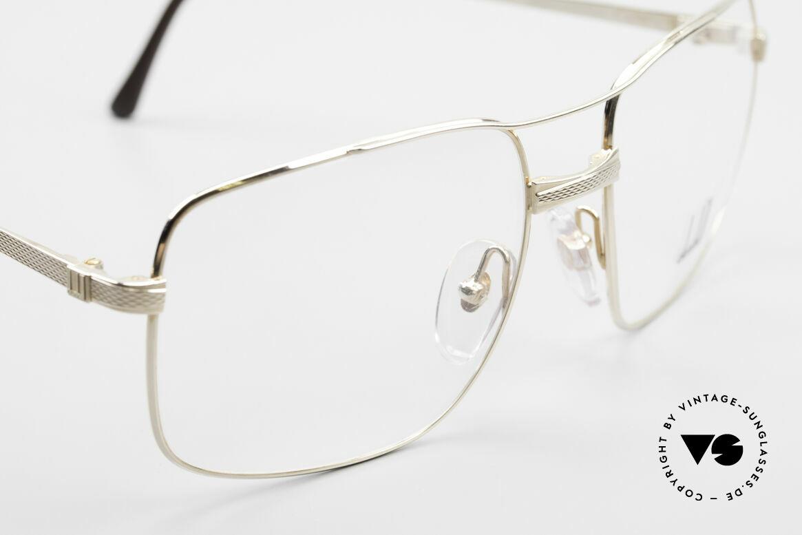 Dunhill 6048 Vergoldete 80er Brille Herren, ungetragenes Unikat (wie alle unsere 80er Dunhills), Passend für Herren