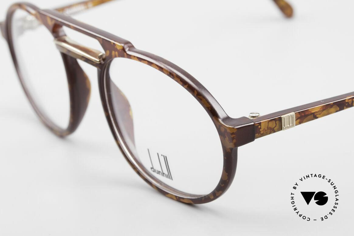 Dunhill 6114 Rund Ovale Vintage Brille 90er, elegante Herrenbrille in einem dezenten Schildpatt, Passend für Herren