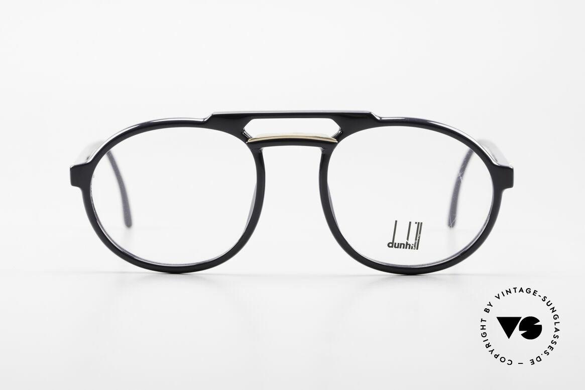 Dunhill 6114 Ovale 90er Brille Dunkelblau, OPTYL-Rahmen in unnachahmlicher TOP-Qualität, Passend für Herren