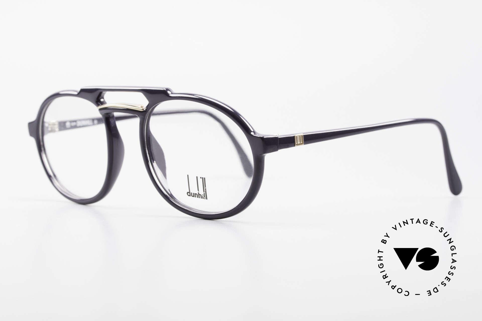 Dunhill 6114 Ovale 90er Brille Dunkelblau, das leichte & robuste Optyl scheint nicht zu altern, Passend für Herren