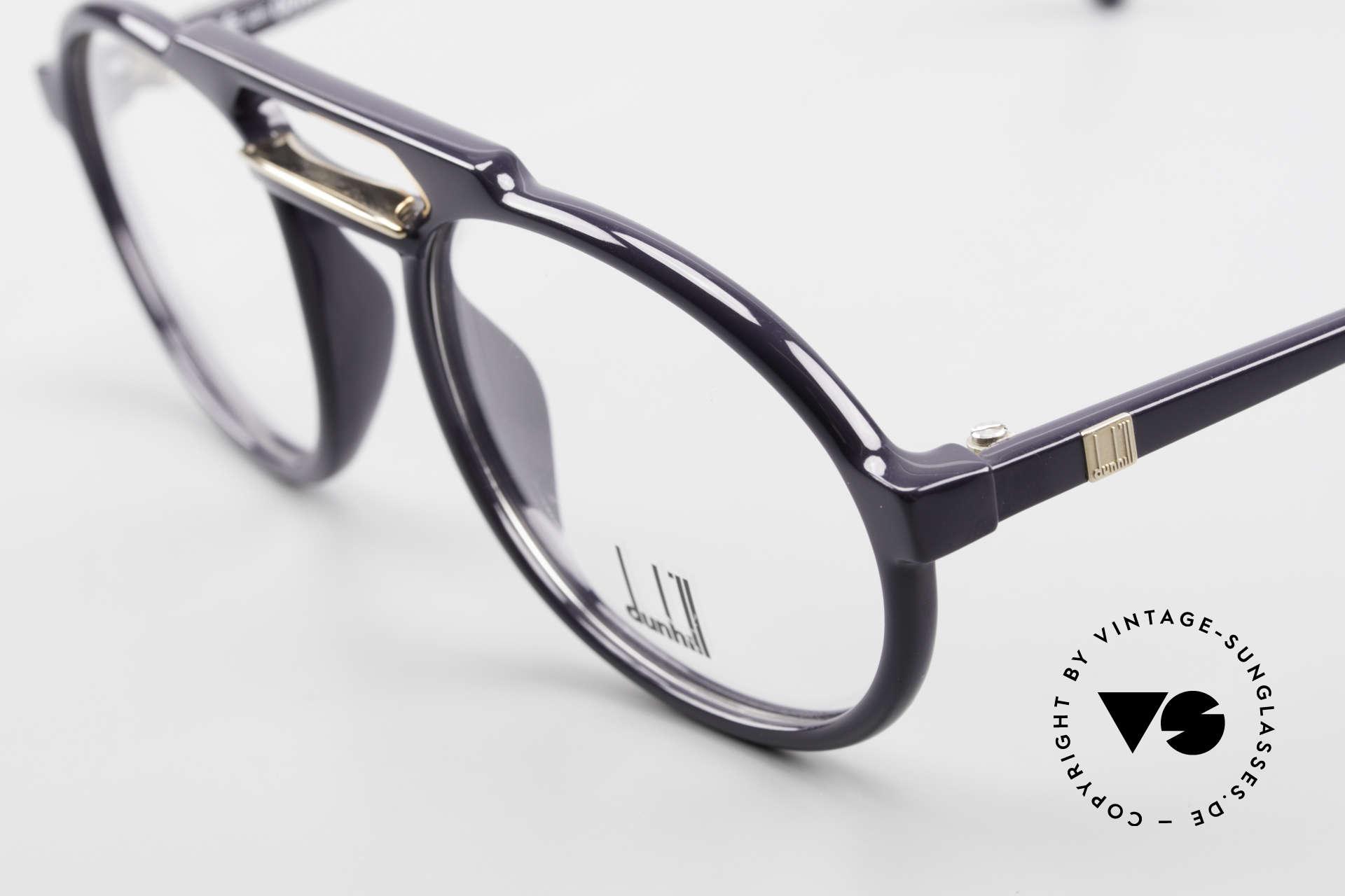Dunhill 6114 Ovale 90er Brille Dunkelblau, elegante Herren-Brille im dezenten DUNKELBLAU, Passend für Herren