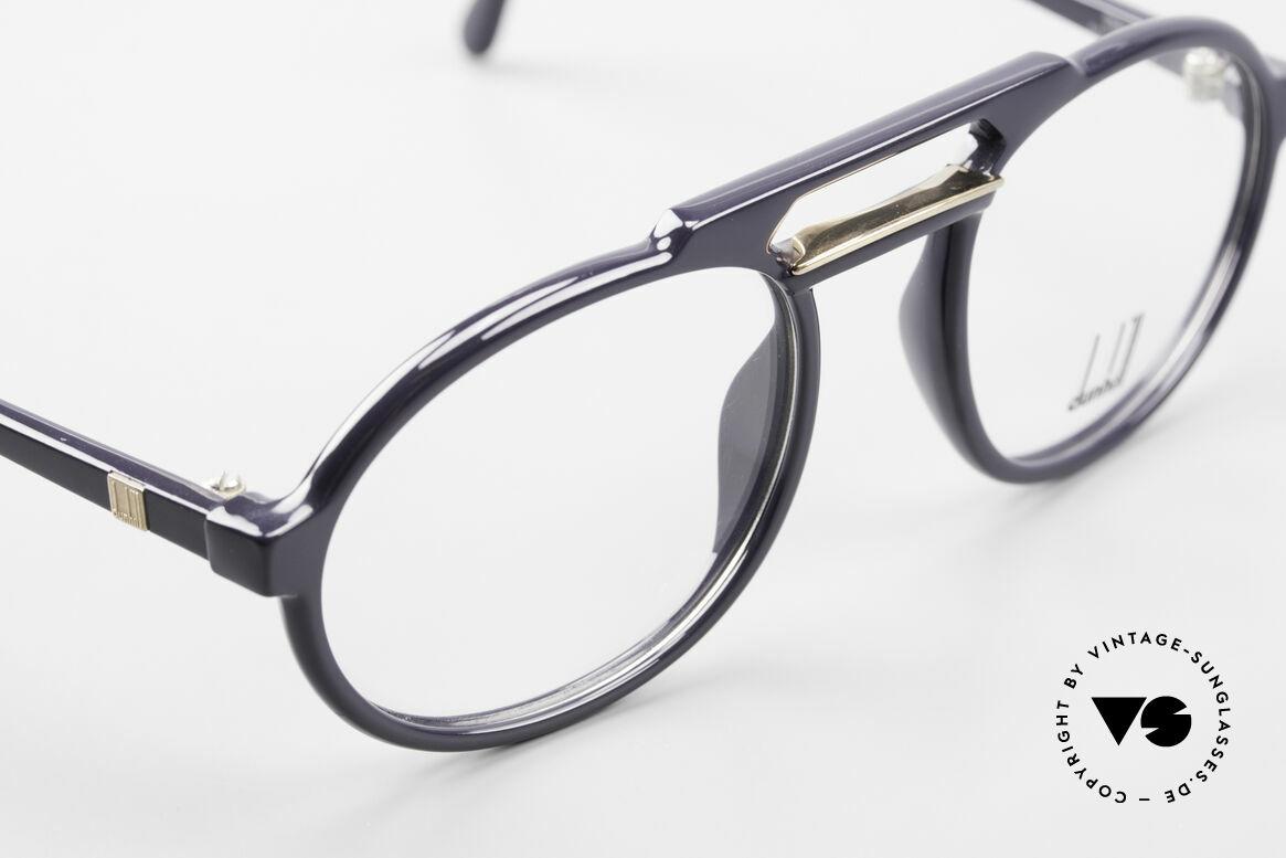 Dunhill 6114 Ovale 90er Brille Dunkelblau, ungetragen (wie alle unsere vintage Dunhill Brillen), Passend für Herren
