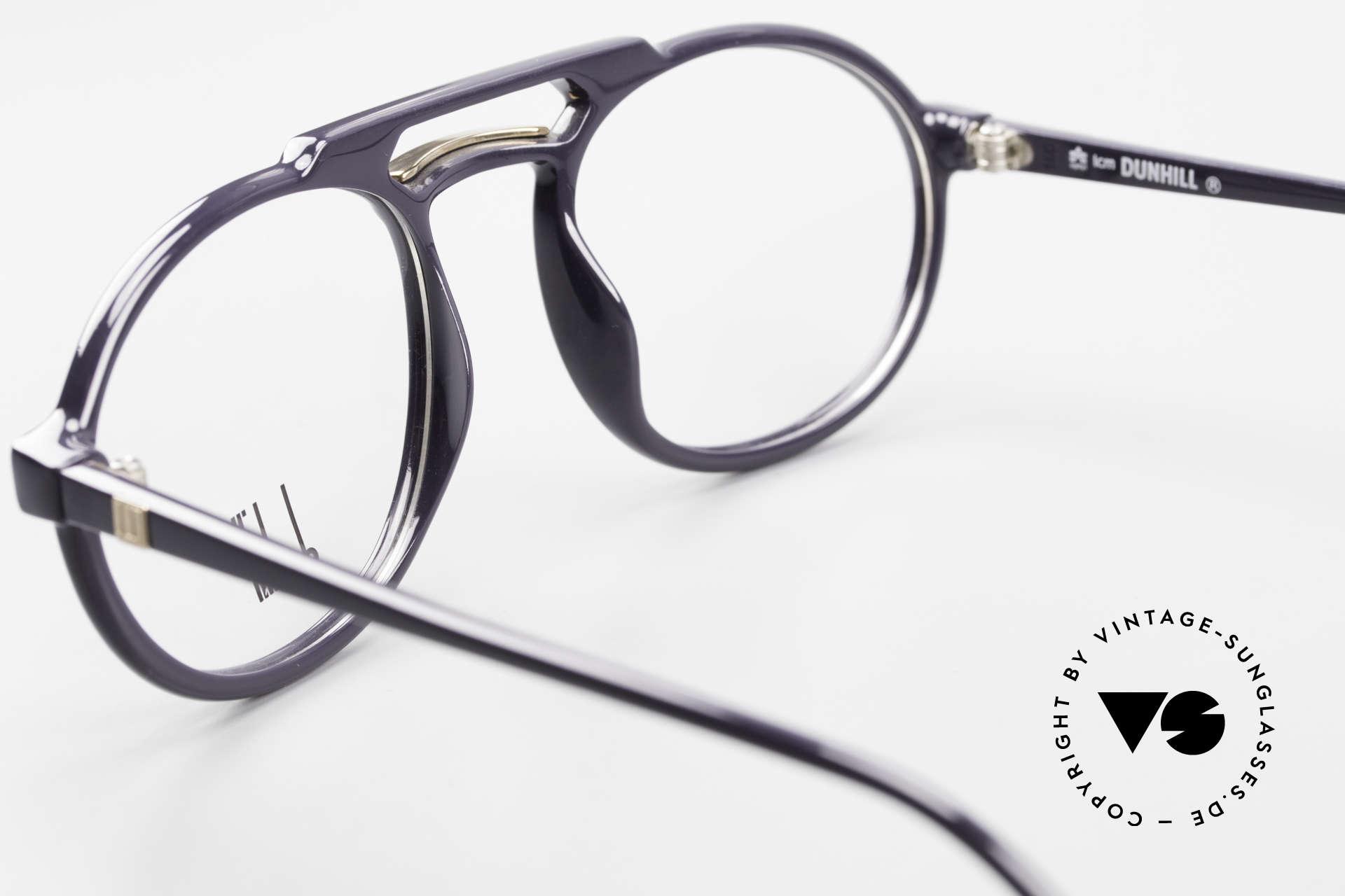 Dunhill 6114 Ovale 90er Brille Dunkelblau, KEIN Retrodesign; authentische alte Ware von 1990, Passend für Herren