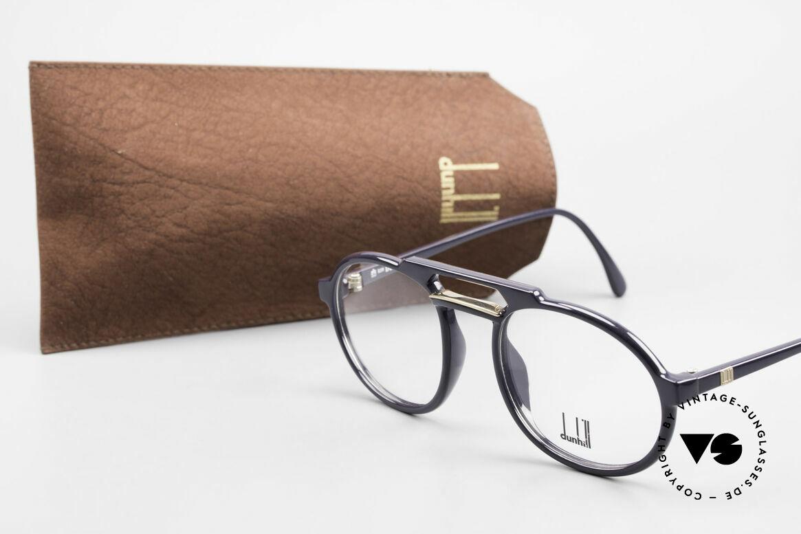 Dunhill 6114 Ovale 90er Brille Dunkelblau, Größe: medium, Passend für Herren
