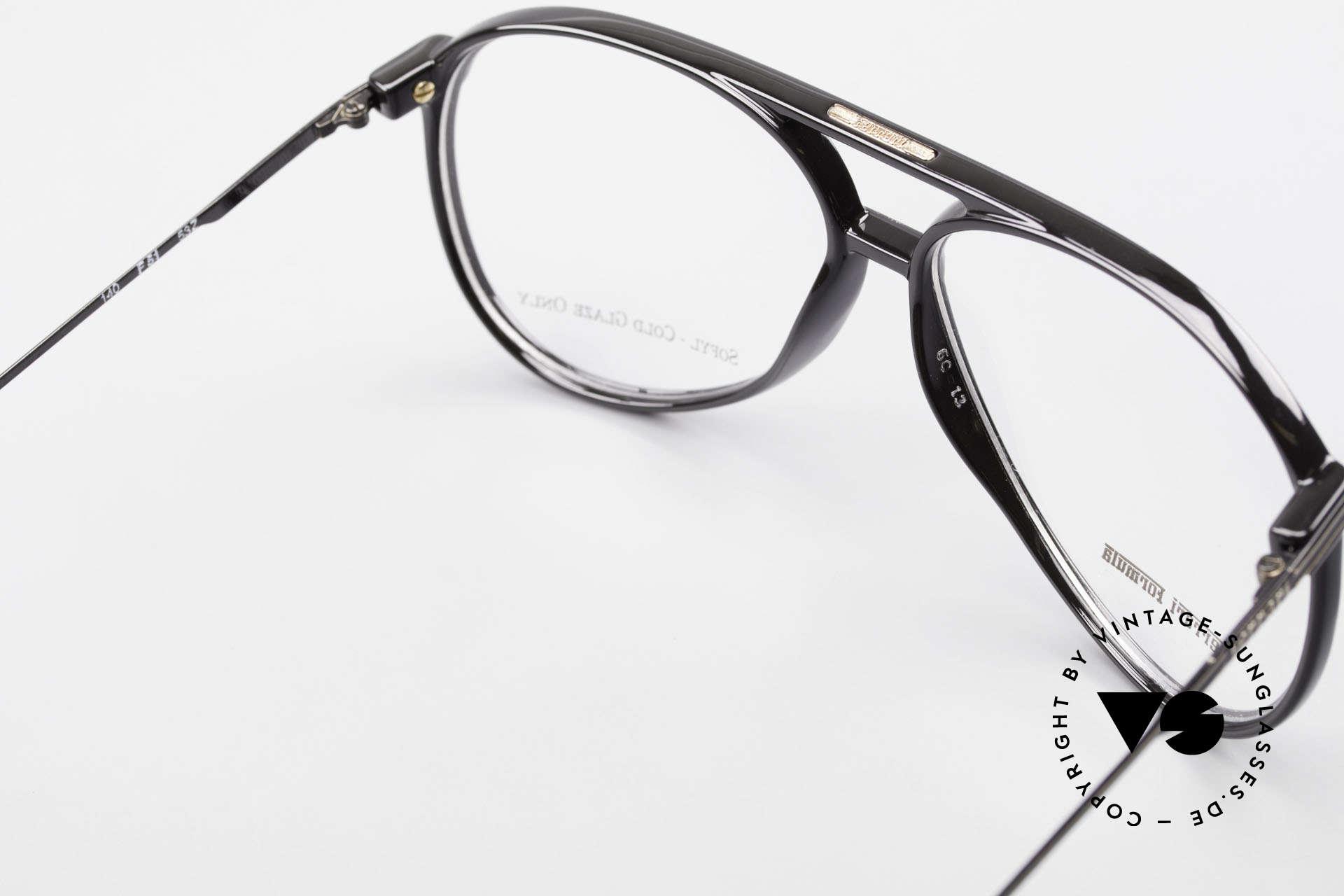 Ferrari F51 Formel 1 Rennfahrer Brille, KEINE Retro-Brille; sondern eine echte alte Rarität!, Passend für Herren