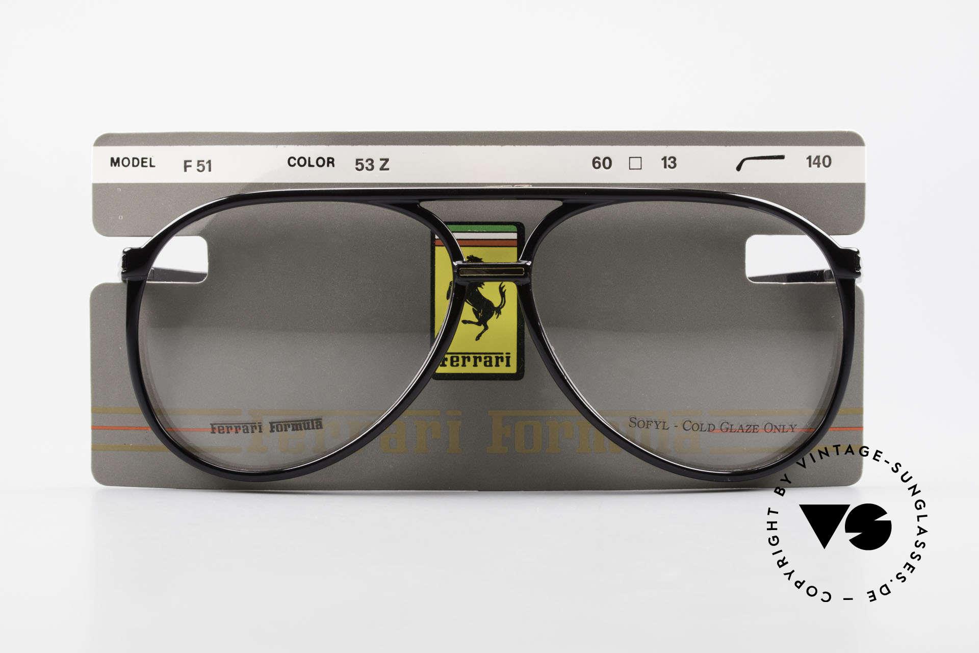 Ferrari F51 Formel 1 Rennfahrer Brille, Größe: large, Passend für Herren