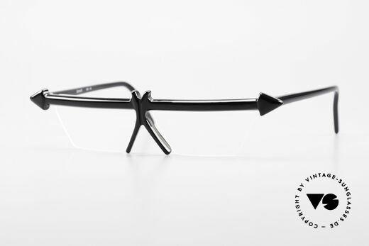 Design Maske Berlin - Ethno 5 Kunstvolle 90er Vintage Brille Details