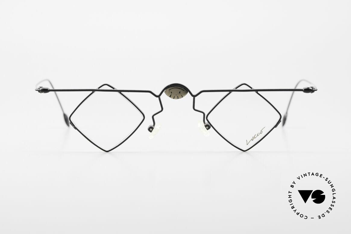 Locco 08 Gute Laune Vintage Brille 90er, kunstvolle vintage Brille; alles andere als Mainstream, Passend für Herren und Damen