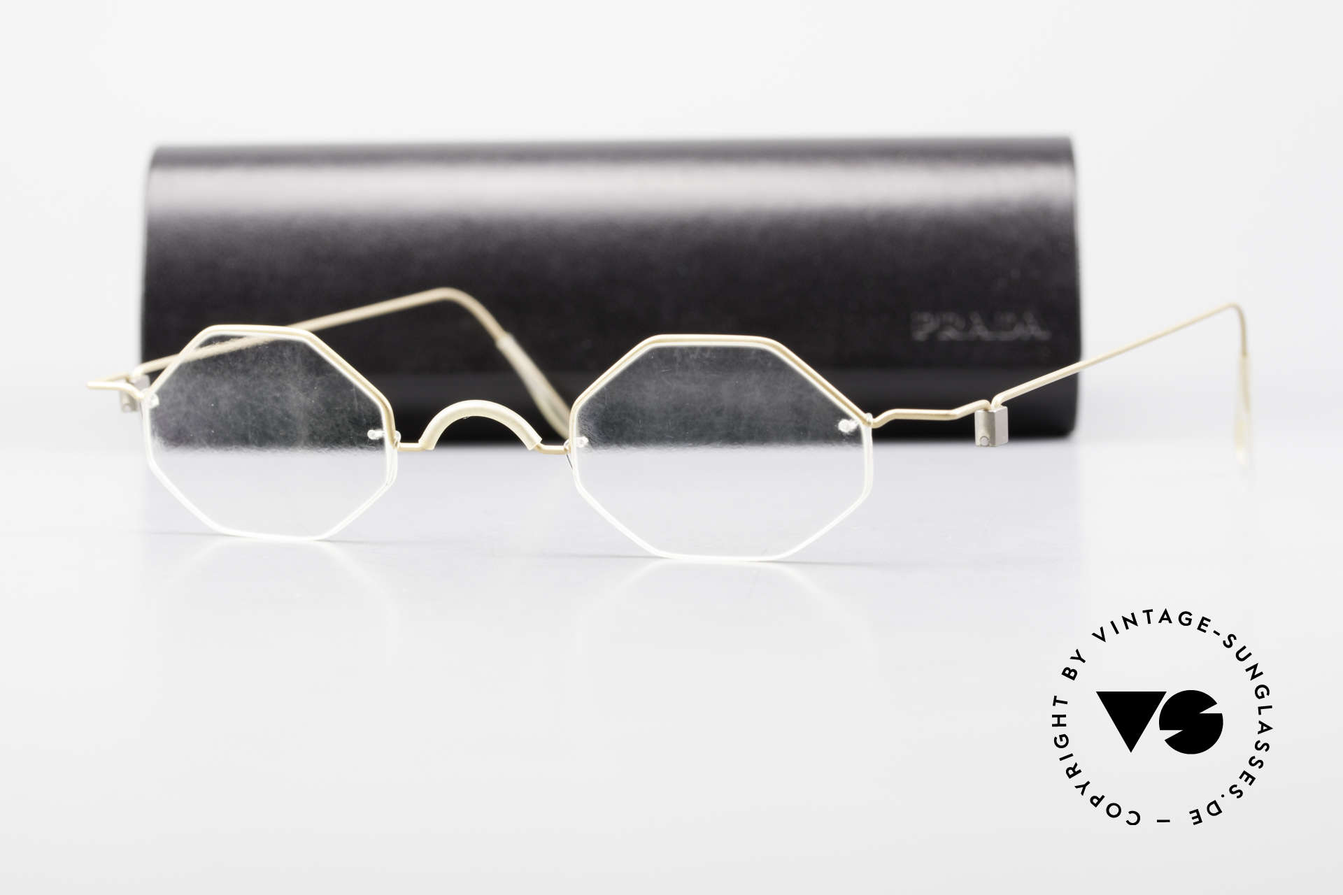 Markus T Achteckige Kenner Brille 90er, extrem stabile Fassung, flexibel & elastisch, und nur 3g, Passend für Herren und Damen