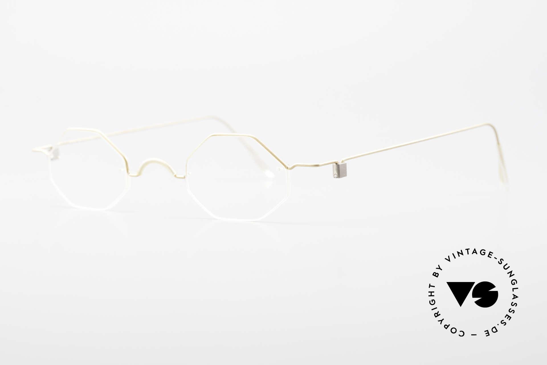 Markus T Achteckige Kenner Brille 90er, wer war zuerst? Lindberg oder Markus T? Kennerbrille!, Passend für Herren und Damen