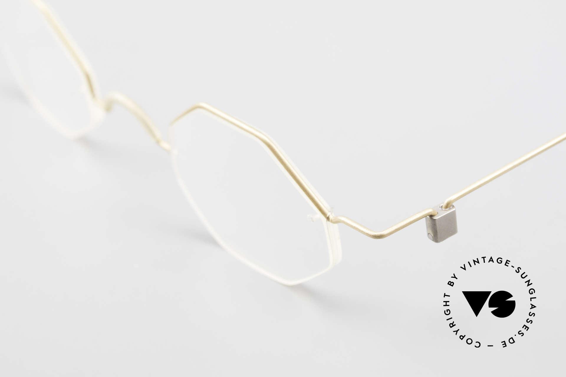 Markus T Achteckige Kenner Brille 90er, ein circa 20-25 Jahre altes, UNGETRAGENES Original!, Passend für Herren und Damen
