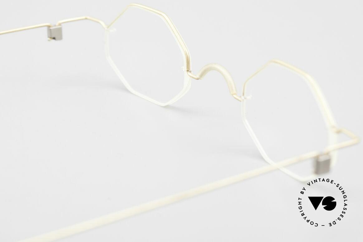 Markus T Achteckige Kenner Brille 90er, Größe: small, Passend für Herren und Damen