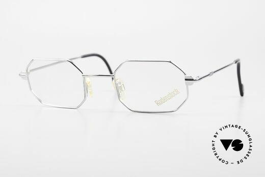 Rodenstock 7092 Achteckige 80er Metall Brille Details