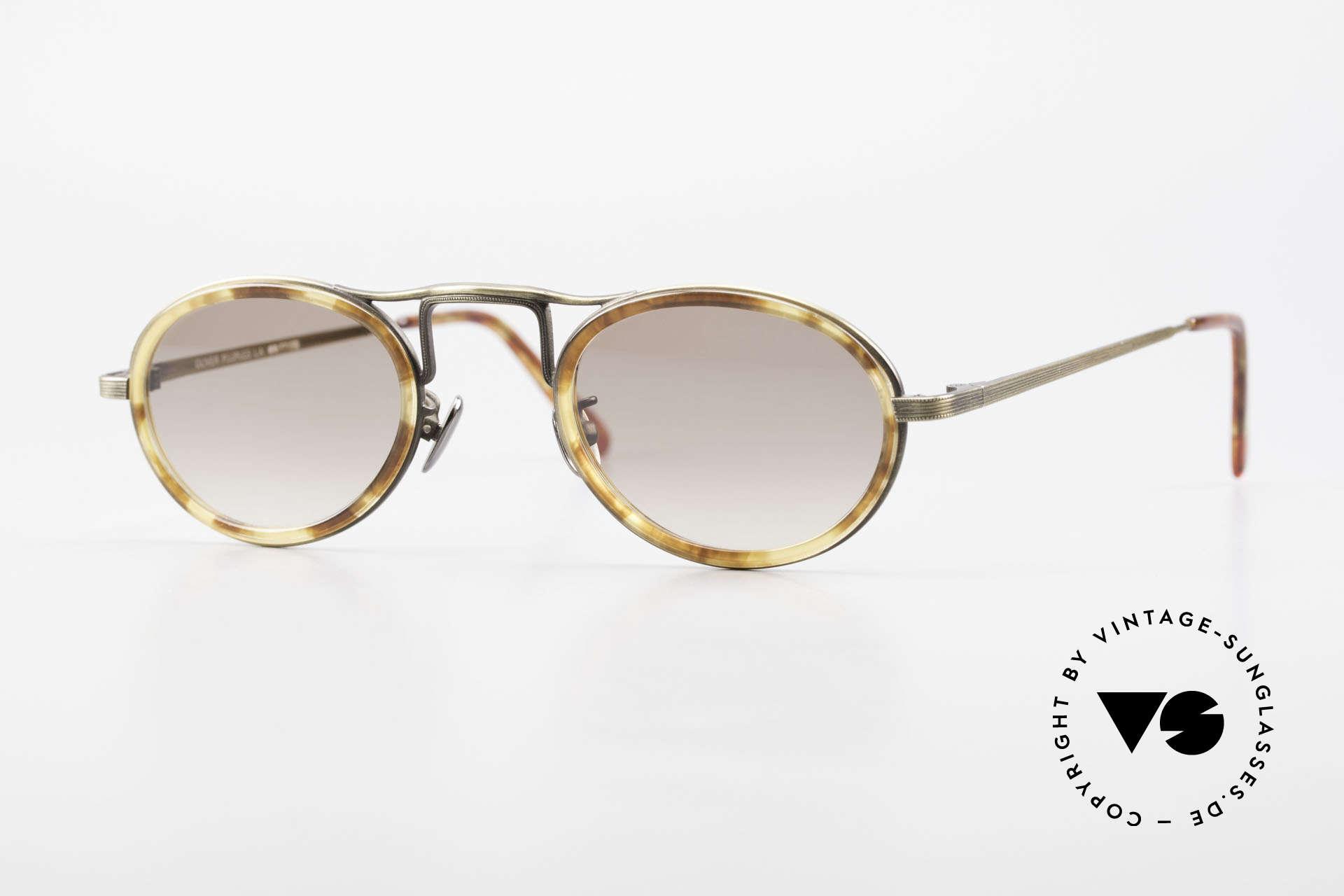Oliver Peoples MP1 Vintage Designer Brille Oval, vintage Oliver Peoples Sonnenbrille der späten 90er, Passend für Herren und Damen