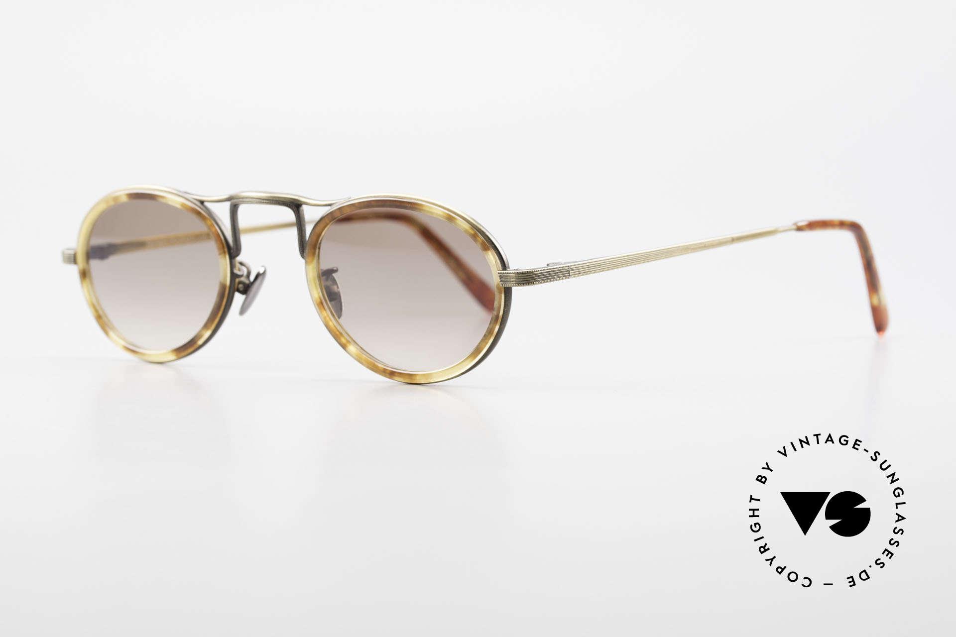 Oliver Peoples MP1 Vintage Designer Brille Oval, sehr interessantes Modell: zeitlos in Farbe und Form, Passend für Herren und Damen