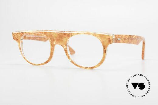 Alain Mikli 0127 / 166 80er Designer Brillenfassung Details
