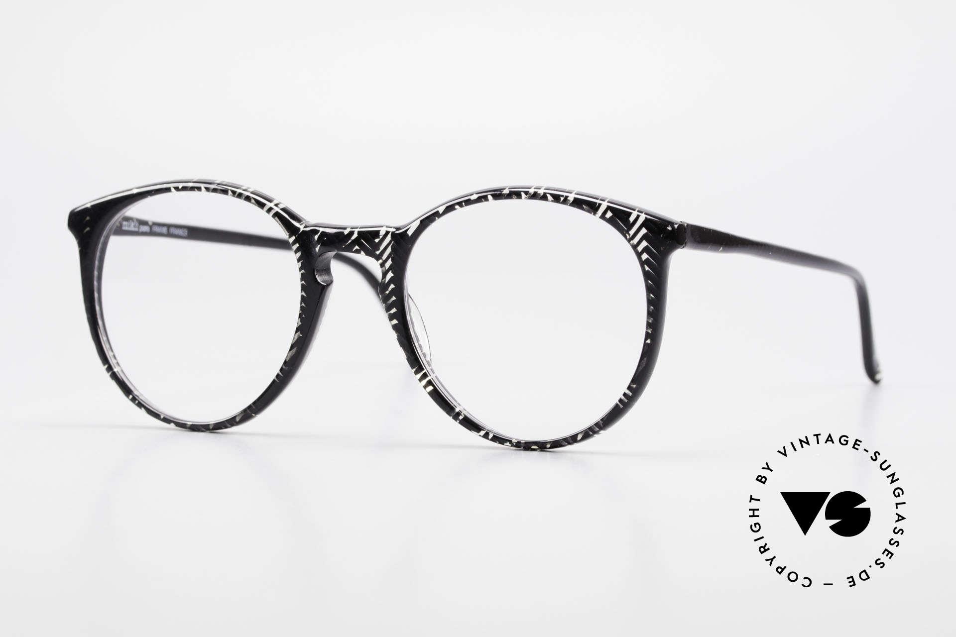 Alain Mikli 901 / 299 Panto Brille Schwarz Kristall, elegante ALAIN MIKLI Paris Designer-Brillenfassung, Passend für Herren und Damen