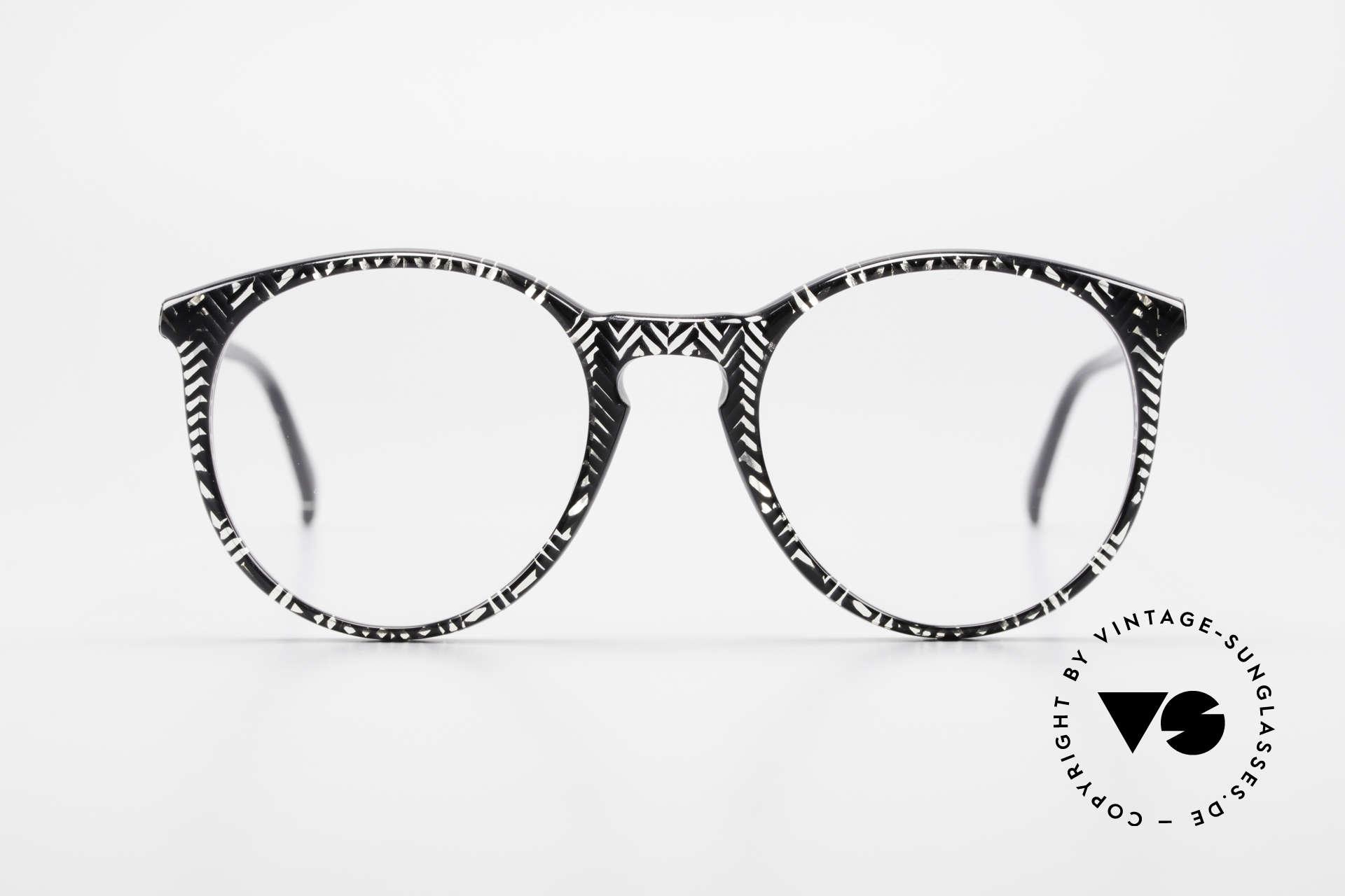 Alain Mikli 901 / 299 Panto Brille Schwarz Kristall, mehr 'klassisch' geht nicht (bekannte PANTO-Form), Passend für Herren und Damen