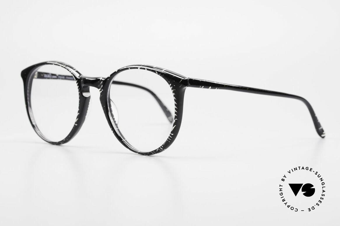 Alain Mikli 901 / 299 Panto Brille Schwarz Kristall, grandioses Rahmen-Muster in kristall und schwarz, Passend für Herren und Damen