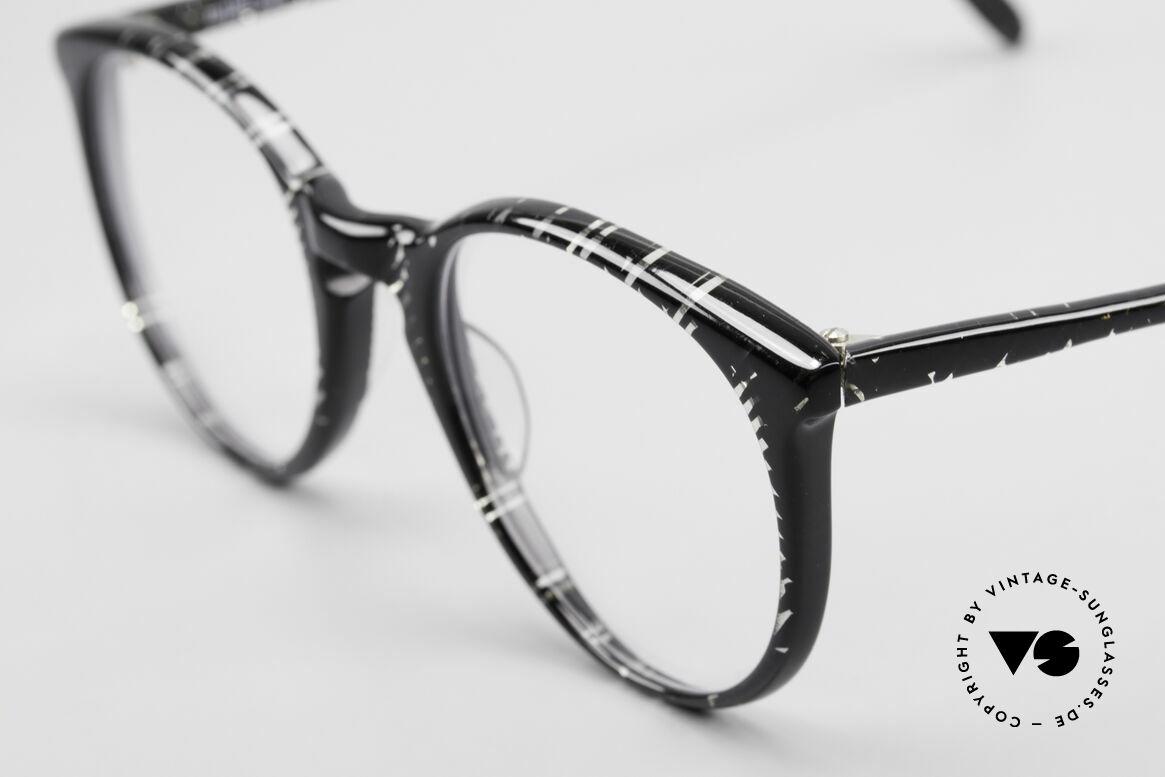 Alain Mikli 901 / 299 Panto Brille Schwarz Kristall, ungetragen (wie alle unsere 1980er vintage Brillen), Passend für Herren und Damen