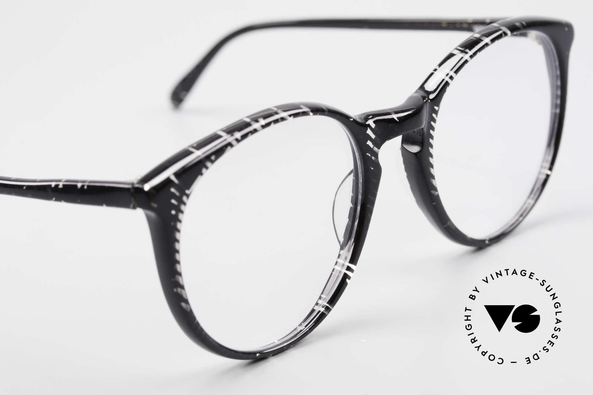 Alain Mikli 901 / 299 Panto Brille Schwarz Kristall, KEINE Retromode, sondern ein altes Mikli-Original, Passend für Herren und Damen