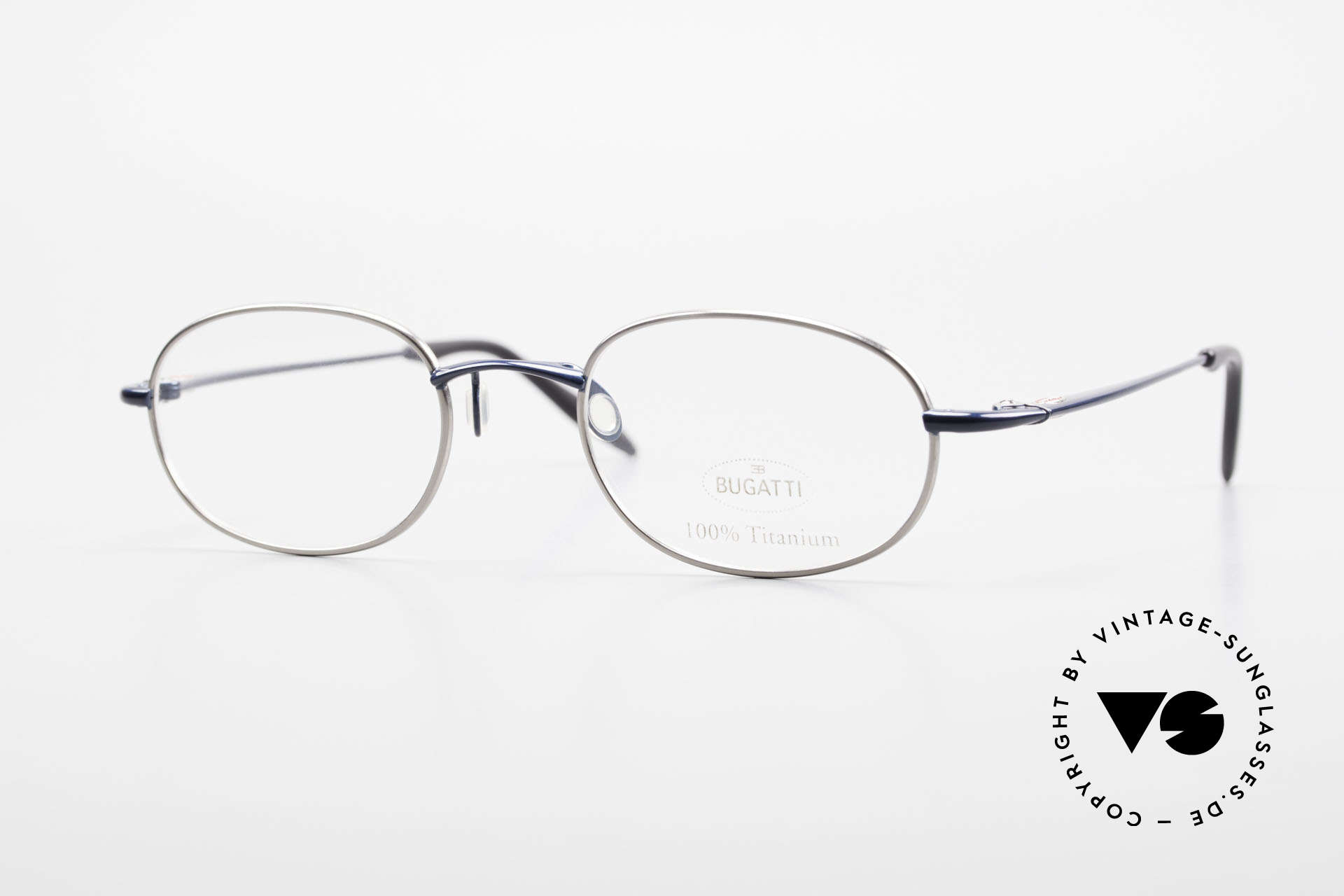Bugatti 19062 90er Herrenbrille Titanium, 100% Titanium vintage Bugatti Brille von circa 1998, Passend für Herren