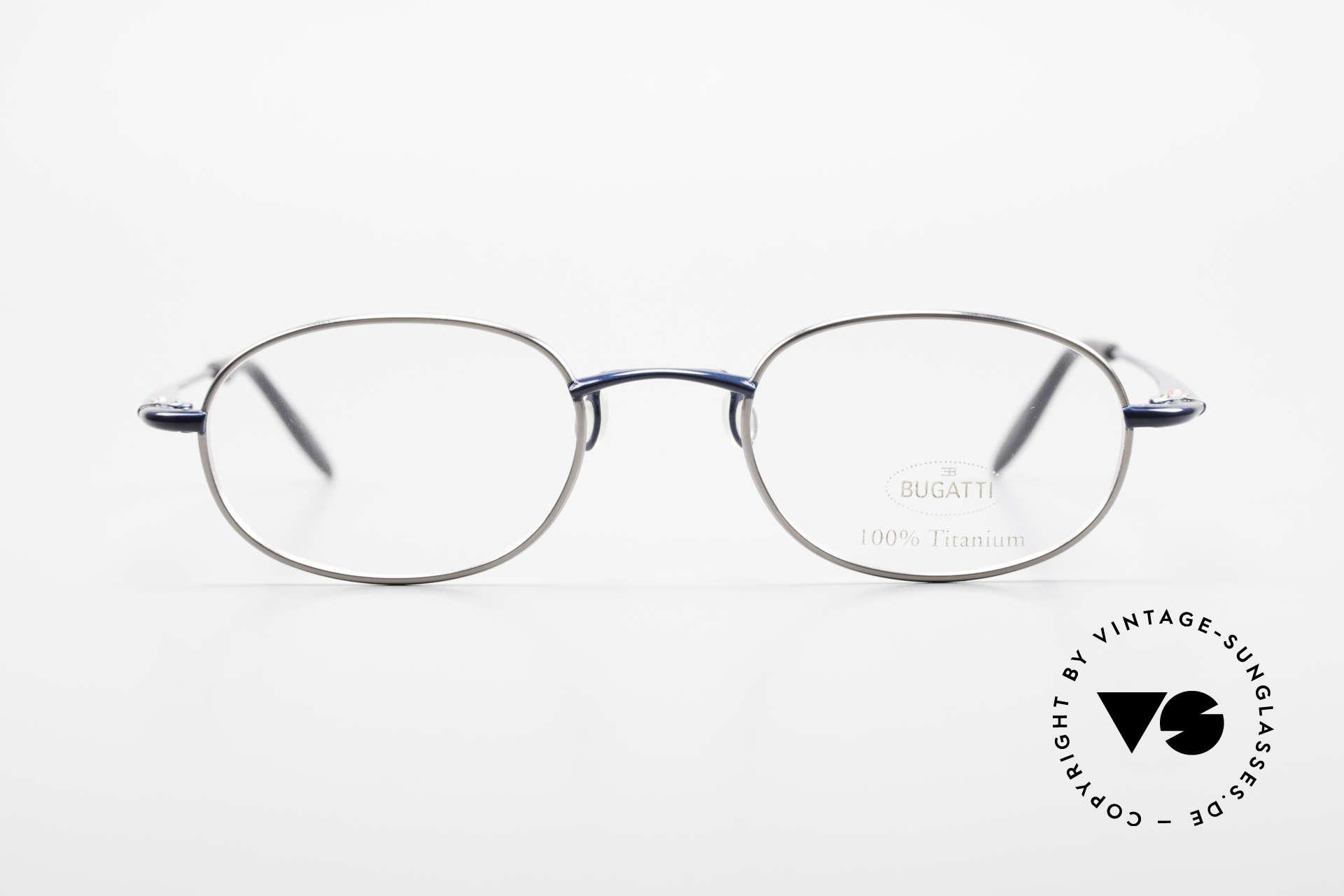 Bugatti 19062 90er Herrenbrille Titanium, herausragende Verarbeitungsqualität (wiegt nur 14g), Passend für Herren