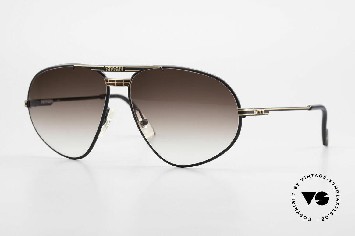 Ferrari F12 Retro Brille Altes 90er Original, vintage Ferrari Designer-Sonnenbrille aus den 90ern, Passend für Herren