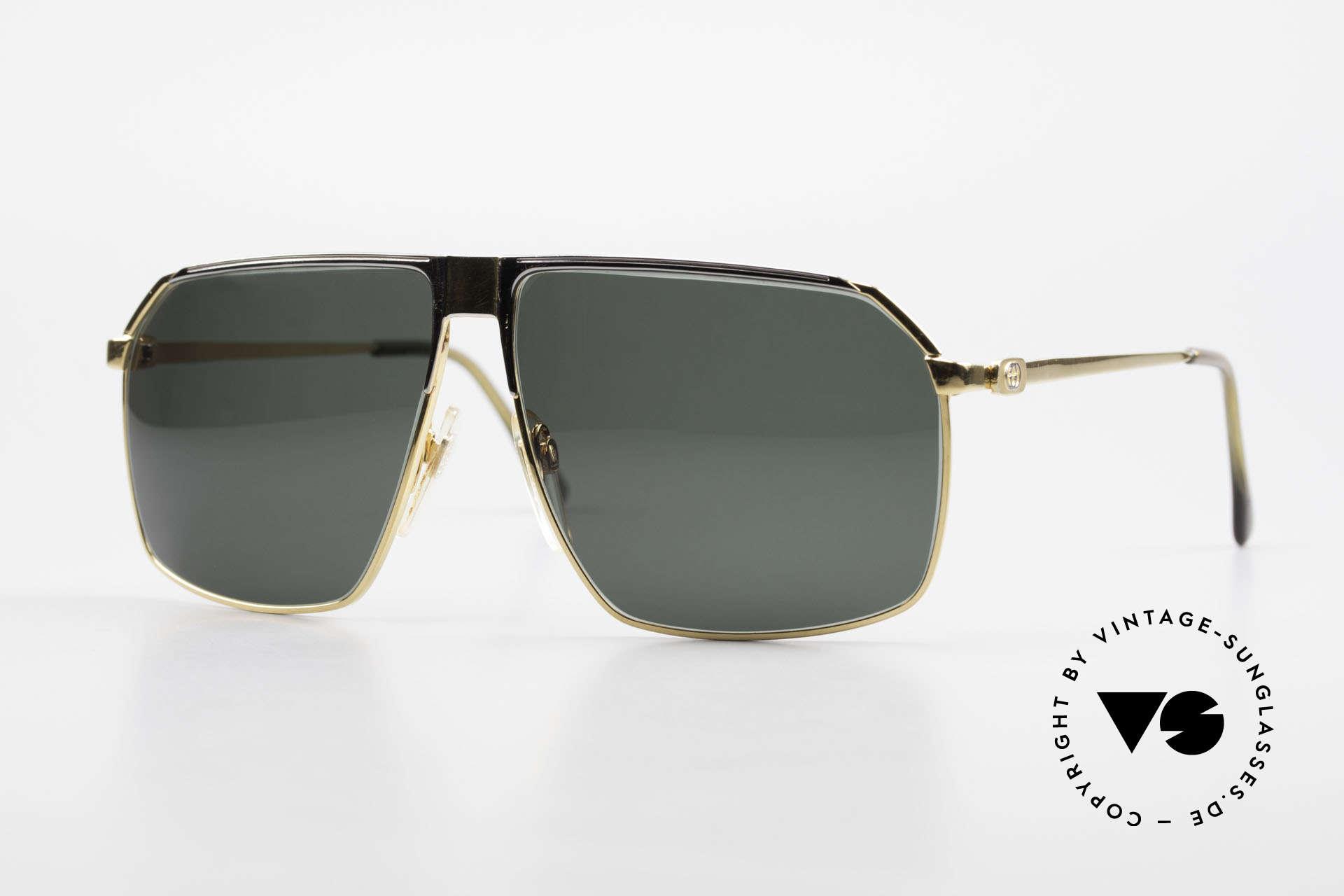 Gucci GG41 22Kt Vergoldete Sonnenbrille, vintage Gucci GG41 Luxus-Sonnenbrille, 22kt vergoldet, Passend für Herren