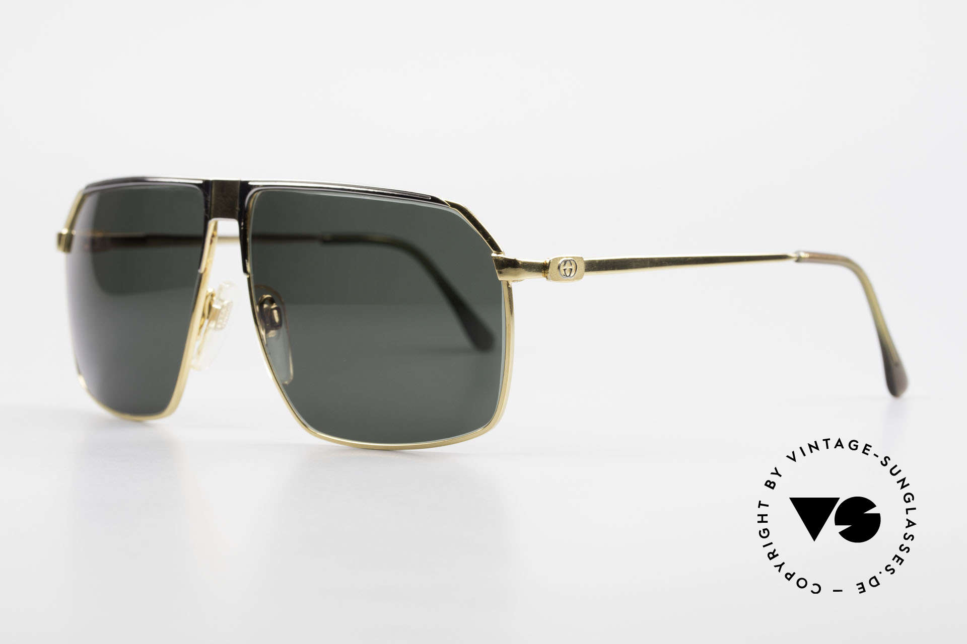 Gucci GG41 22Kt Vergoldete Sonnenbrille, verkörpert den Luxus-Lifestyle mit vintage Charakter, Passend für Herren
