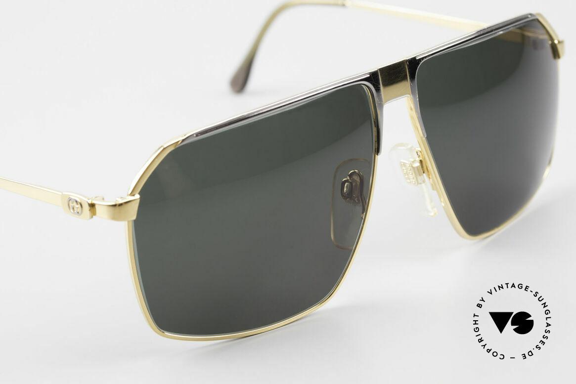 Gucci GG41 22Kt Vergoldete Sonnenbrille, 2nd hand Modell, im tollen vintage Zustand inkl. Etui, Passend für Herren