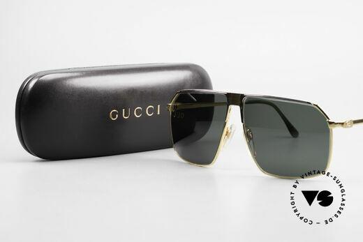 Gucci GG41 22Kt Vergoldete Sonnenbrille, Größe: large, Passend für Herren