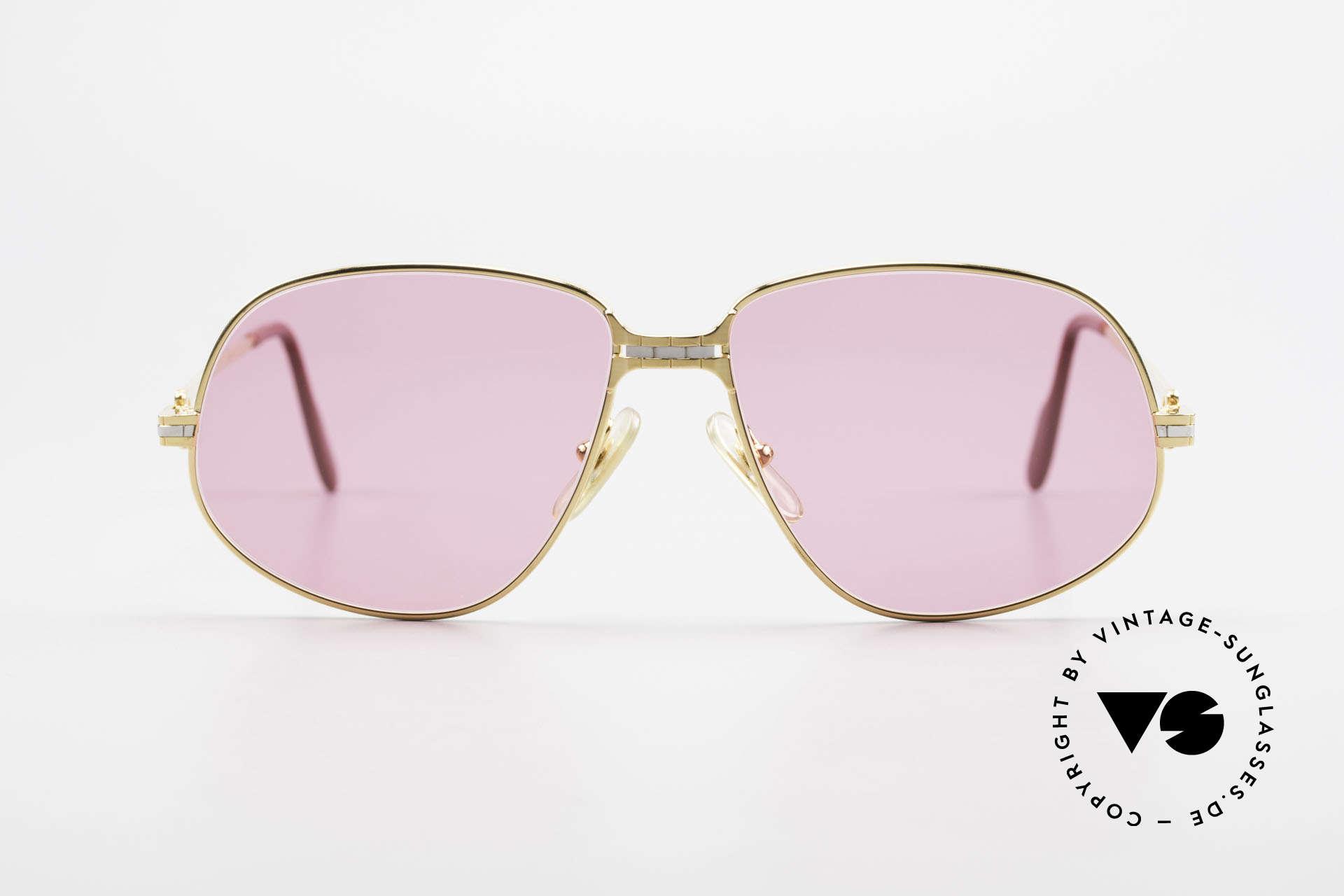 Cartier Panthere G.M. - M Pinke Brille mit Chanel Etui, wurde 1988 veröffentlicht und dann bis 1997 produziert, Passend für Herren und Damen