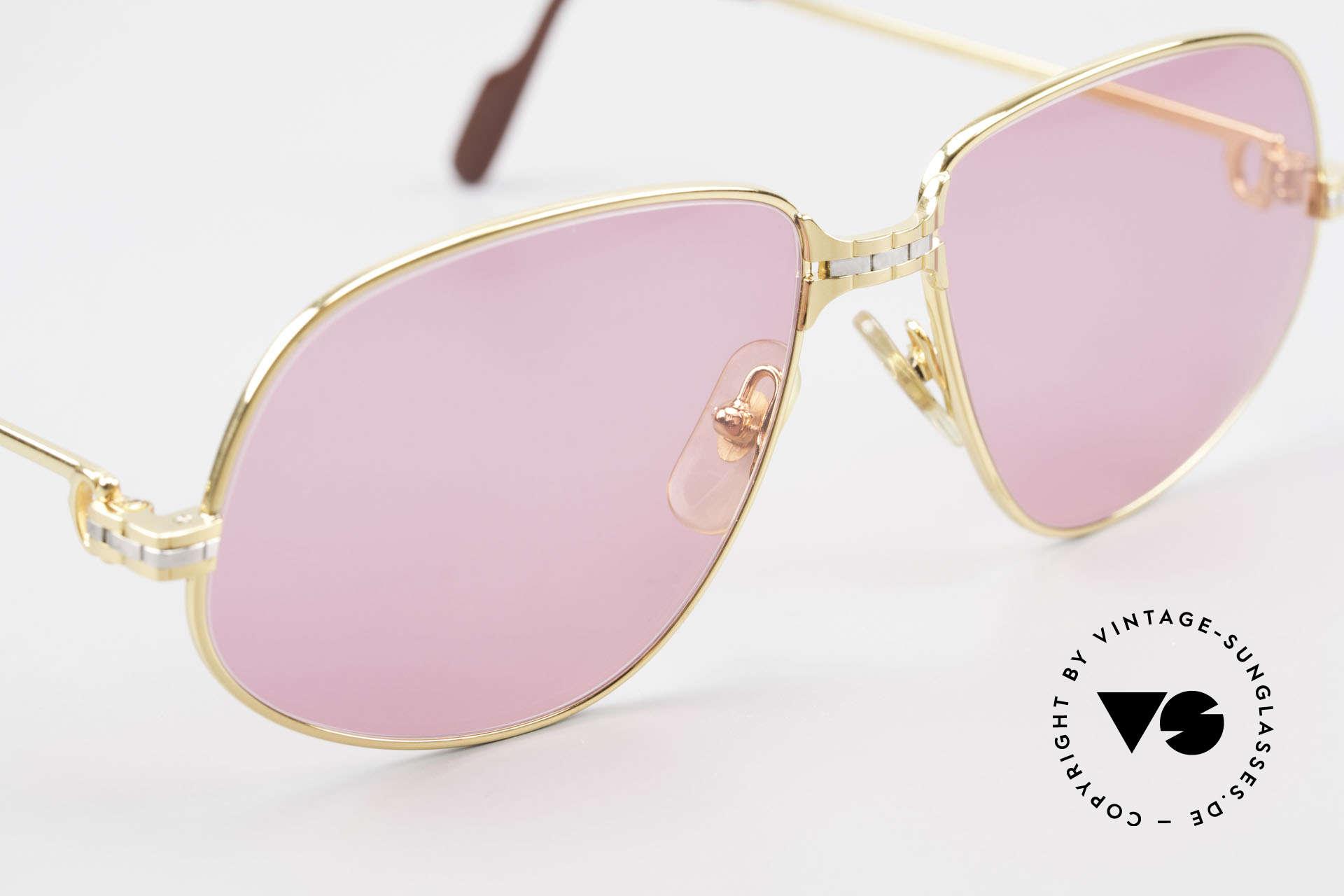 Cartier Panthere G.M. - M Pinke Brille mit Chanel Etui, 2nd hand Modell im neuwertigen Zustand + CHANEL Etui, Passend für Herren und Damen