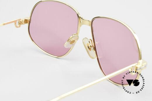 Cartier Panthere G.M. - M Pinke Brille mit Chanel Etui, KEINE RETRObrille; ein 30 Jahre altes vintage ORIGINAL, Passend für Herren und Damen