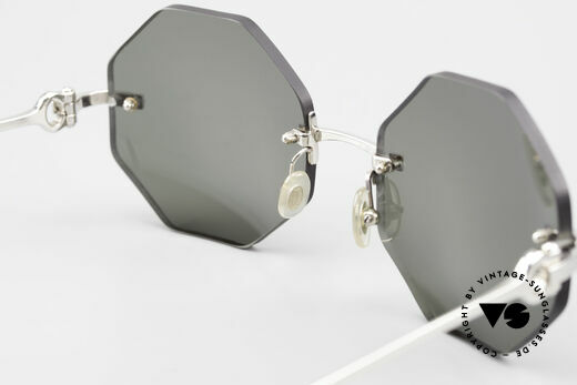 Cartier Rimless Octag Achteckige Luxus Sonnenbrille, Customized = ein Einzelstück von unserem Optiker!, Passend für Herren und Damen