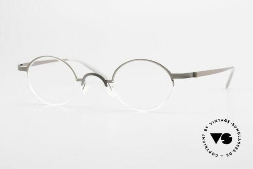 Lindberg 7005 Strip Titan Runde Titanium Brille Unisex Details