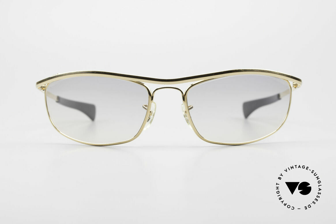 Ray Ban Olympian I DLX Easy Rider Film Sonnenbrille, berühmte Ray Ban Filmsonnenbrille; made in USA, Passend für Herren